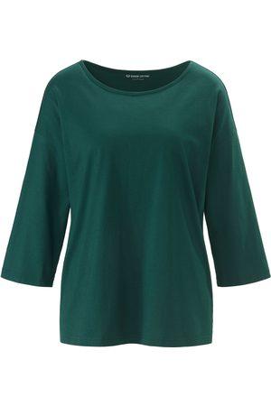 Green Cotton Kvinder Langærmede - Bluse 3/4-ærmer i 100% bomuld Fra grøn