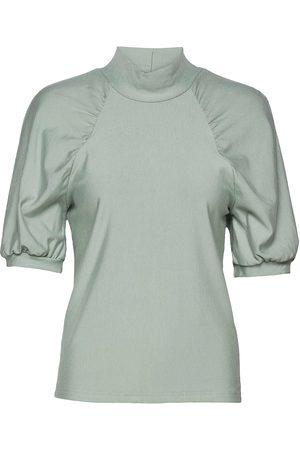 Gestuz Kvinder Højhalset - Rifagz Ss Turtleneck Blouses Short-sleeved