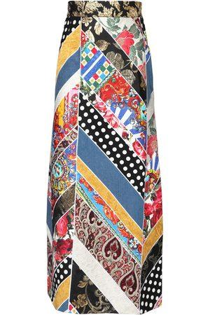 Dolce & Gabbana Brocade Jacquard A-line Patchwork Skirt