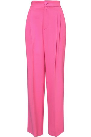 Dolce & Gabbana Silk Cady Stretch Straight Trousers