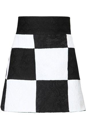 Dolce & Gabbana Kvinder Mininederdele - Brocade Jacquard Patchwork Mini Skirt