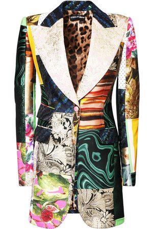 Dolce & Gabbana Kvinder Jakker - Jacquard Printed Patchwork Jacket
