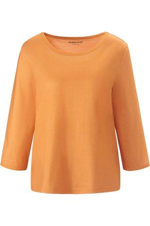 Green Cotton Kvinder Bluser - Bluse rund hals i 100% bomuld Fra orange