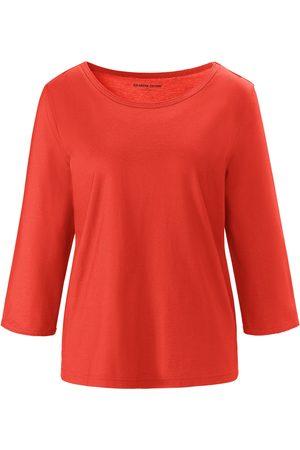 Green Cotton Kvinder Bluser - Bluse rund hals i 100% bomuld Fra rød