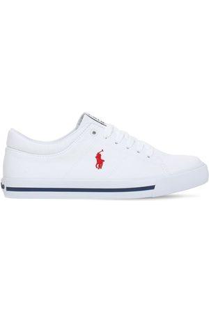 Ralph Lauren Drenge Casual sko - Logo Cotton Canvas Lace-up Sneakers