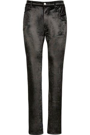 Balenciaga 5 Pocket Stretch Velvet Pants