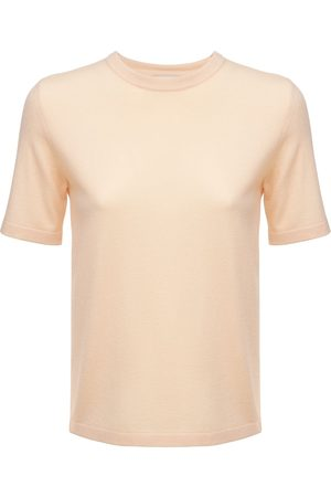 Bottega Veneta Kvinder Strik - Cashmere Knit Short Sleeved Top