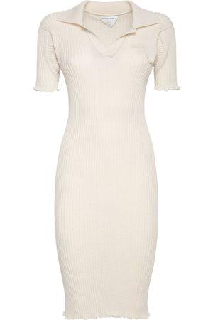 Bottega Veneta Kvinder Strikkede kjoler - Wool Rib Knit Midi Dress