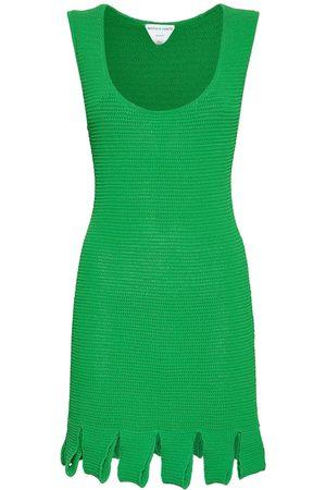 Bottega Veneta Kvinder Festkjoler - Knit Mesh Sleeveless Mini Dress