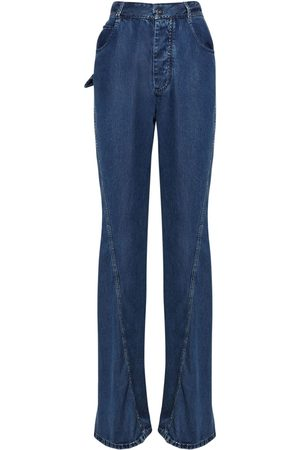 Bottega Veneta Fluid Cotton Denim Straight Leg Jeans