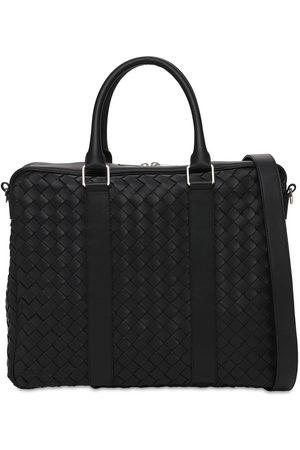 Bottega Veneta Mænd Laptop Tasker - Hydrology Intreccio Leather Briefcase