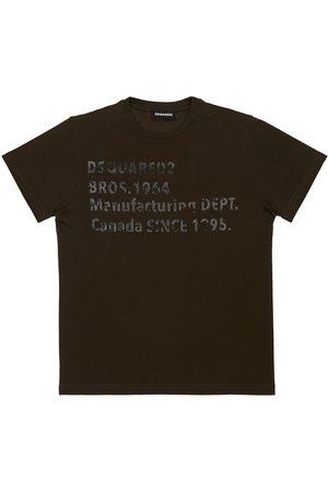 Dsquared2 Piger Kortærmede - Printed Cotton Jersey T-shirt