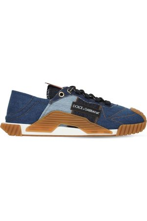 DOLCE & GABBANA Ns1 Denim Patchwork Sneakers