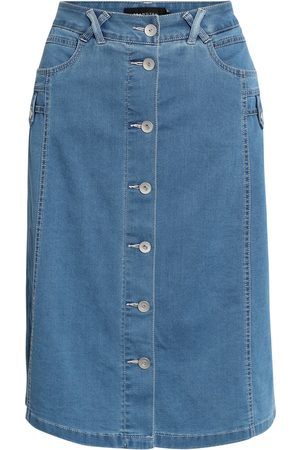 Brandtex Kvinder Denimnederdele - Nederdel - Washed denim - 38
