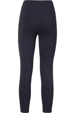 Green Cotton Kvinder Leggings - Formfaste leggings Fra blå