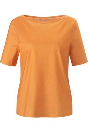 Green Cotton Kvinder Bluser - Bluse korte ærmer i 100% bomuld Fra orange
