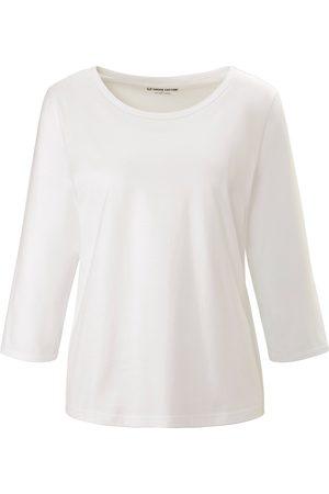 Green Cotton Kvinder Bluser - Bluse rund hals i 100% bomuld Fra hvid