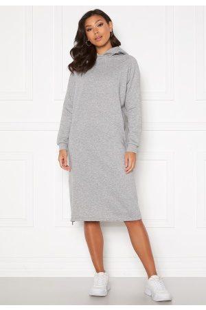 Noisy May Kvinder Casual kjoler - Helene L/S Sweat Dress Light Grey Melange L