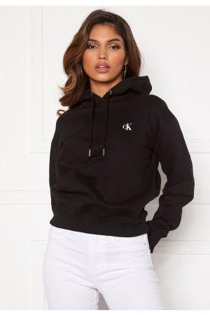 Calvin Klein Kvinder Sweatshirts - CK Embroidery Hoodie BAE CK Black M