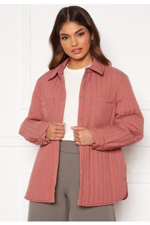 Pieces Gretzel Quilted Overshirt Canyon Rose XS