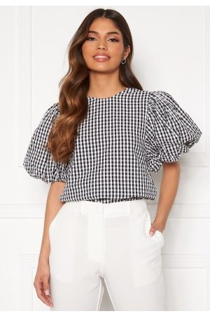 Vero Moda Oline 2/4 O-Neck Top Snow White/ Checks L