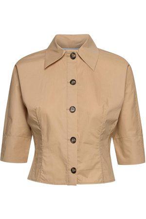 Cathrine hammel Kvinder Kortærmede - Cropped Shirt Kortærmet Skjorte Sort