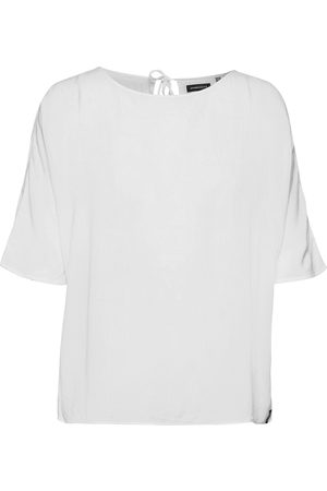 Superdry Woven Tshirt Blouses Short-sleeved Hvid