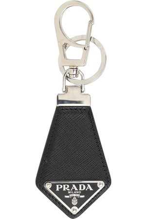 Prada Logo Saffiano Leather Key Chain