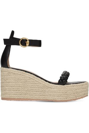 Gianvito Rossi 85mm Leather Espadrille Wedges