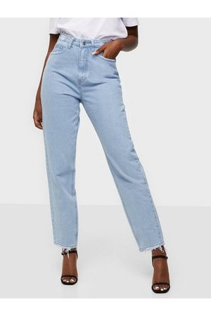 Missguided Riot Highwaisted Waistband Disress Jeans Straight fit