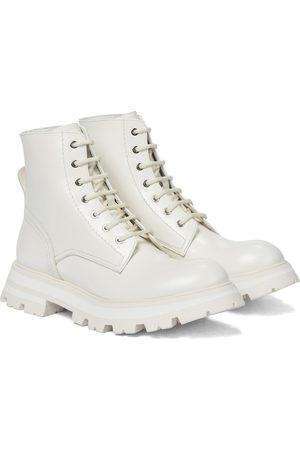 Alexander McQueen Kvinder Ankelstøvler - Wander leather combat boots