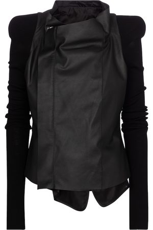 Rick Owens Leather and wool jacket