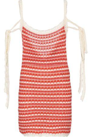 Alanui Desert Summer striped cotton minidress
