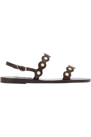 Ancient Greek Sandals Clio Mirrors leather sandals