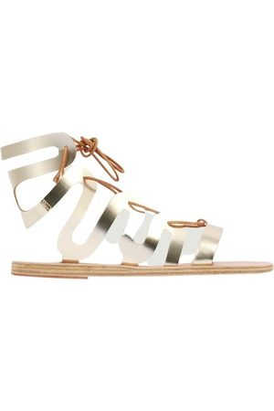 Ancient Greek Sandals Clelia leather lace-up sandals
