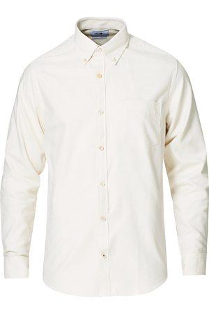 NN.07 Mænd Langærmede - Levon Oxford/Cashmere Shirt Egg White