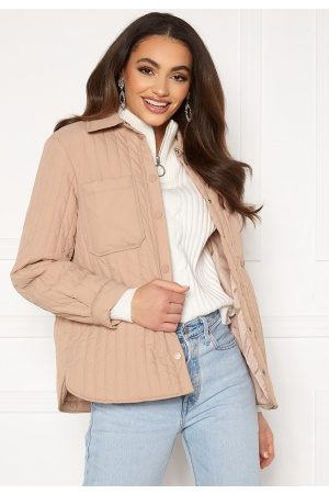 Pieces Kvinder Casual - Gretzel Quilted Overshirt Warm Taupe M