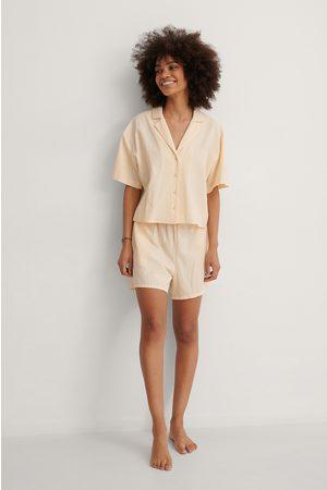 NA-KD Kvinder Pyjamas - Økologisk Strukturerede Økologiske Vide Lounge Shorts