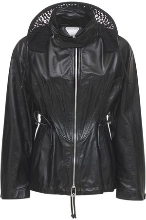 Bottega Veneta Kvinder Vinterfrakker - Shiny Leather Zip Up Coat