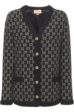 Gucci Kvinder Strik - Logo Wool Jacquard Knit Cardigan