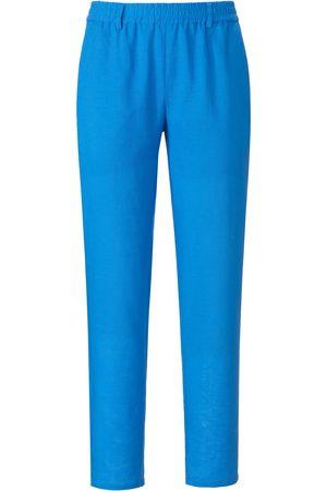 mayfair by Peter Hahn Kvinder Bukser - Buks elastik i taljen Fra blå