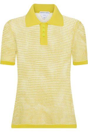 Bottega Veneta Kvinder Poloer - Cotton-blend knit polo shirt