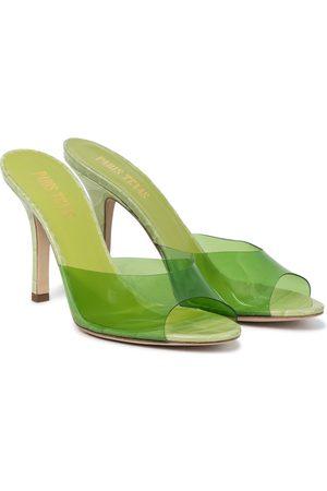 PARIS TEXAS Penelope PVC and leather sandals