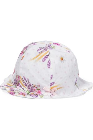 MONNALISA Baby floral cotton poplin hat