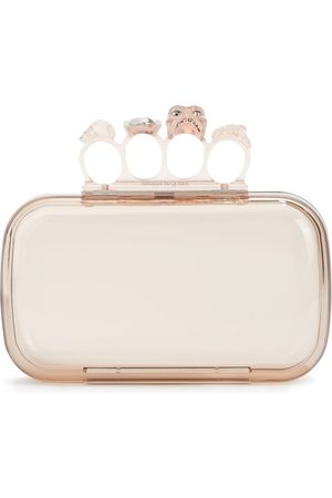 Alexander McQueen Kvinder Clutches - Four Ring embellished PVC clutch