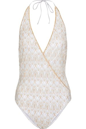 Missoni Halterneck crochet-knit swimsuit