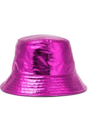 Isabel Marant Kvinder Hatte - Haley metallic leather bucket hat