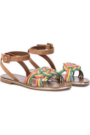 Christian Louboutin Kvinder Sandaler - Ella suede and leather sandals
