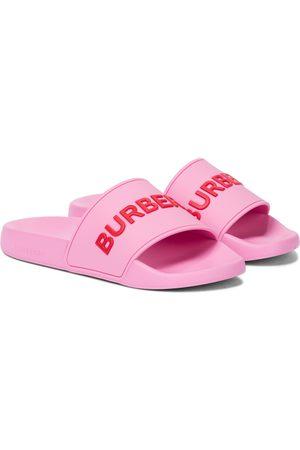 Burberry Logo rubber slides