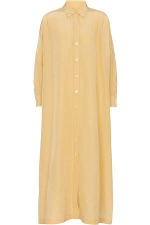 Jil Sander Cotton and silk maxi dress